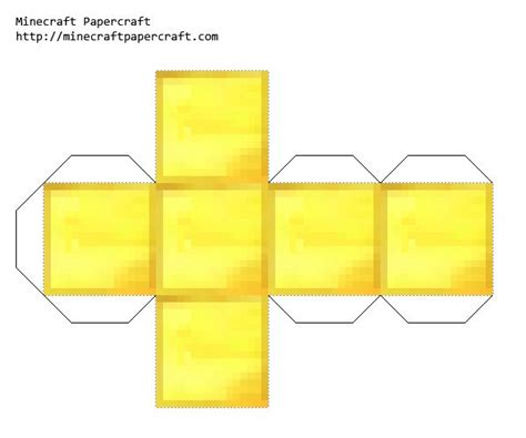 Papercraft Blocks - papercraft gold block minecraft crafts
