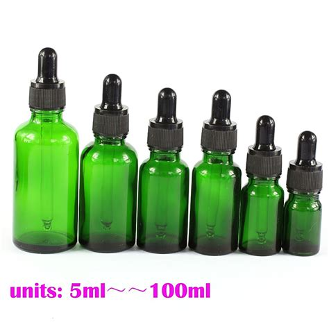 Droping Bottle 100 Ml 5 ml 100 ml empty green glass pipette bottles