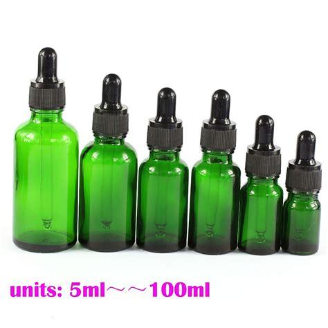 Droping Bottle 100 Ml 5 ml 100 ml empty green glass pipette bottles boston eye dropper ebay