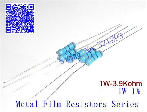 resistor color code 0 5 ohms 1w 3 9k ohm 1 resistor 1w 3k9 ohm metal resistors 1w color ring resistance 50pieces