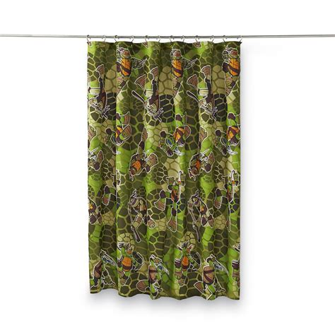 teenage mutant ninja turtles shower curtain nickelodeon teenage mutant ninja turtles fabric shower curtain