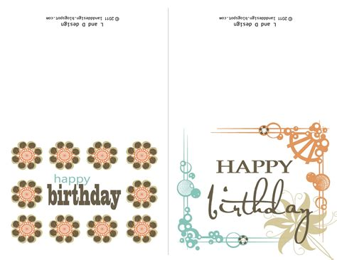 Happy Birthday Card Printable Template by Printable Birthday Cards For Happy Birthday To You