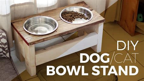 remodelaholic diy dog food bowl stand for small pups how to make a dog bowl stand diy or cat youtube
