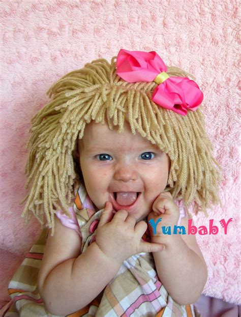 Wig Baby baby hat wig cabbage patch costume raggedy wigs