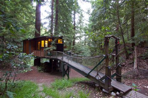 santa cruz tree house redwood treehouse tiny house swoon