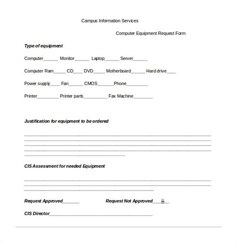 13 Computer Service Request Form Templates To Download Sle Templates Laptop Request Form Template