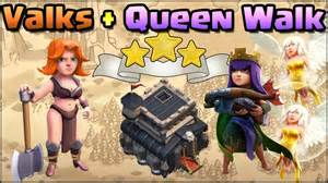 Valkyrie archer queen walk th9 war attack strategy clash of clans