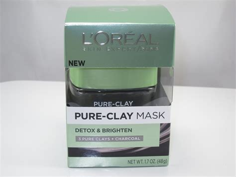 L Oreal Detox Mask Review by L Oreal Clay Mask Detox Brighten Treatment Mask