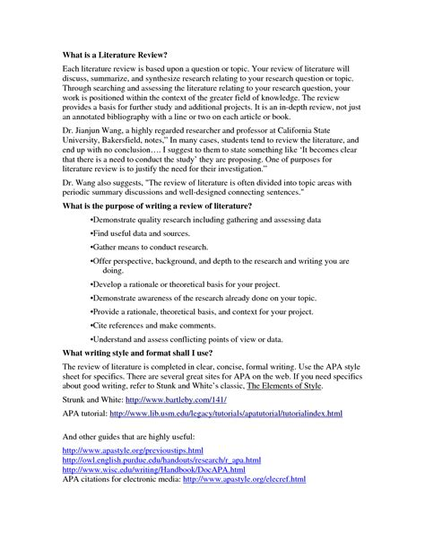 Literary Research Essay by Papers In Literature