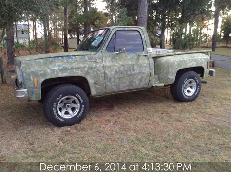 s10 stepside bed 1976 chevy stepside shortbed 4 x 4 a t promotional vehicle
