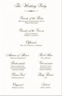 Programs wedding program wording program samples program examples
