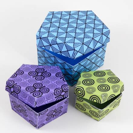Origami Pentagon Box - how to make a pentagon box boxes and bags s