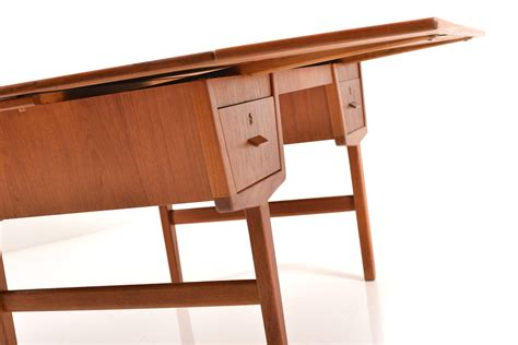 extendable desk mid century danish extendable teak desk for sale at pamono