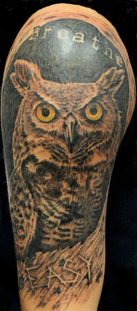 great horned owl tattoo design 17 best images about holy roller tattoos and
