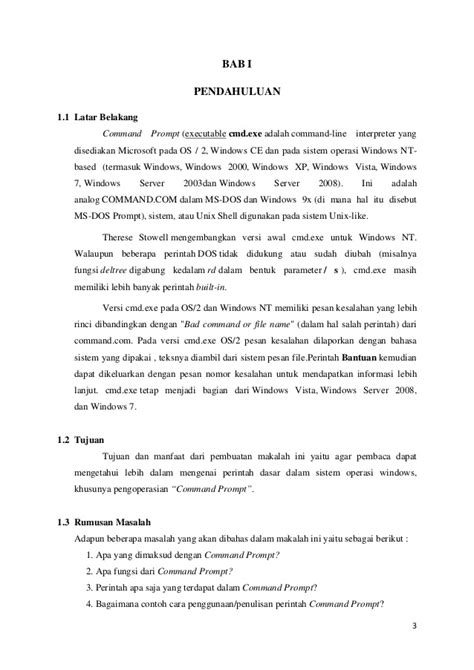 pengertian dan fungsi perintah perintah dalam micrososft makalah perintah dasar windows command prompt