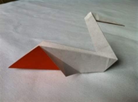 Origami Pelican - origami pelican and diagrams
