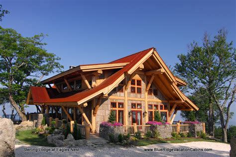 Vacation Cabins Sterling Lodge Nc Luxury Rental Atop Eagles Nest Banner