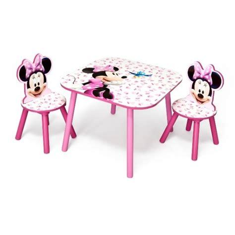 Table Chaise Minnie table avec 2 chaises minnie disney chaise et bureau