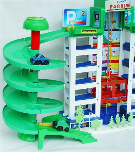 Plan Toys Garage by Parking Garage Car Park Block Plan Toys Ebay