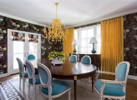 chandeliers for dining room eclectic cottage home with a vibrant yet balanced color