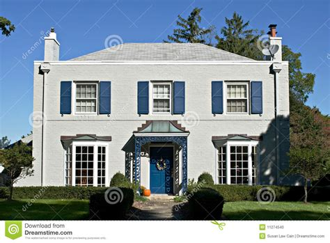 blue gray house gray house with blue accents stock photo image 11274540