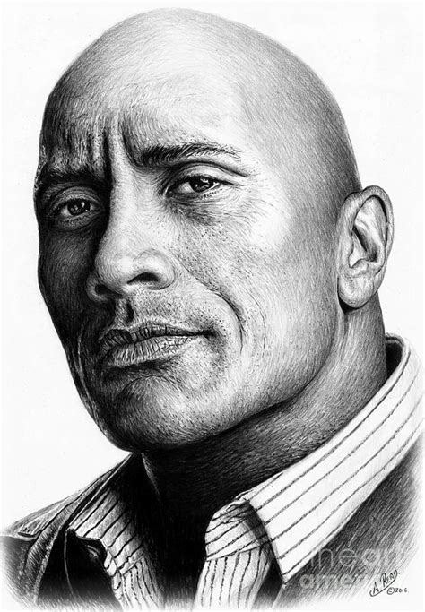Paper Duvet Dwayne The Rock Johnson Drawing By Andrew Read