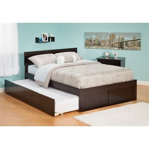 Platform Bed With Trundle Atlantic Furniture Orlando Platform Bed And Trundle Set In Espresso Ar812x11