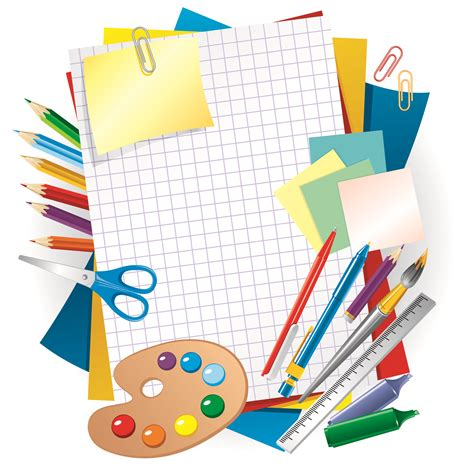 free printable vector stationery learning stationery 01 vector free vector 4vector