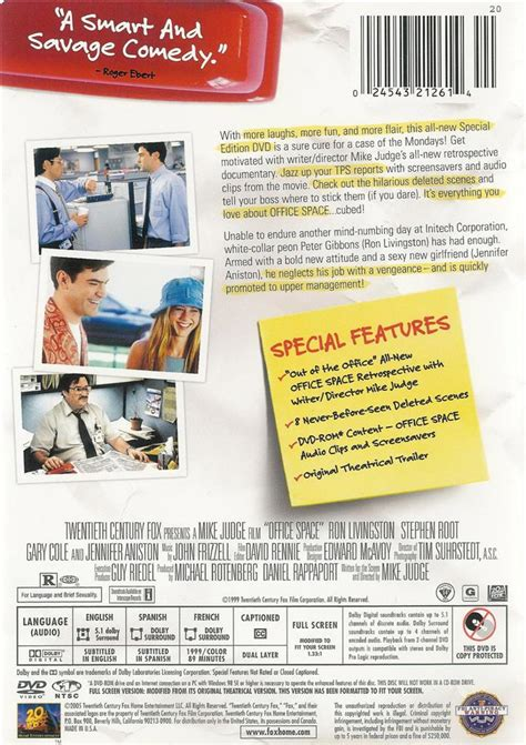 Office Space Dvd Office Space Special Edition With Flair