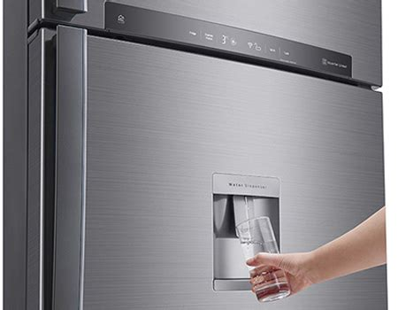 souq | lg 830 liters top mount refrigerator, platinum