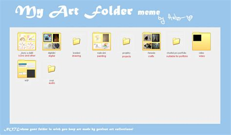 Meme Folder - my art folder meme by drakonee on deviantart