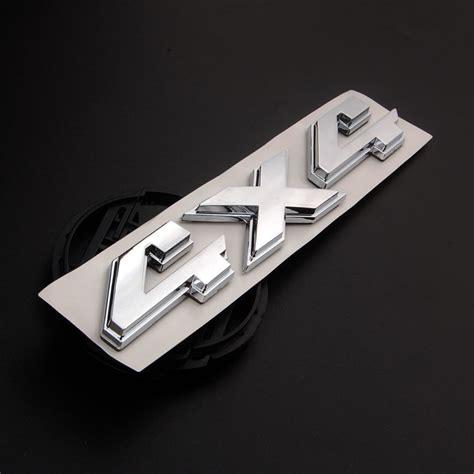 Emblem 4 X 4 Original Auto bbq fuka 3d chrome 4x4 emblem badge decal fit for jeep grand liberty auto side
