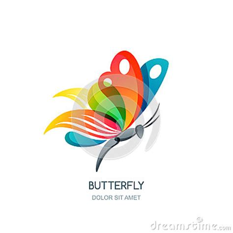 colorful butterfly logo vector isolated illustration of colorful abstract