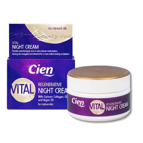 cien products cien vital regenerative night cream with calcium collagen