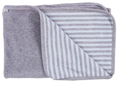 Decke Groß Baumwolle by Baby Decke Blau Grau 90x70 Bio Baumwolle Popolini