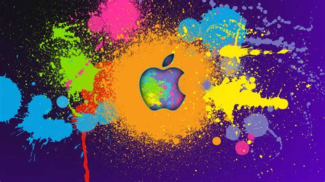 colorful mac computer colorful apple logo wallpaper image hd 12829 wallpaper