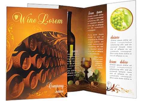 wine brochure template barrel with wine brochure template design id 0000000545 smiletemplates