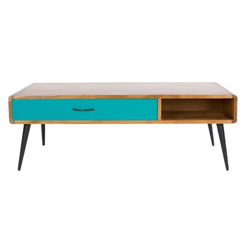 light wood coffee table buy libra lightwood multicoloured retro coffee table at