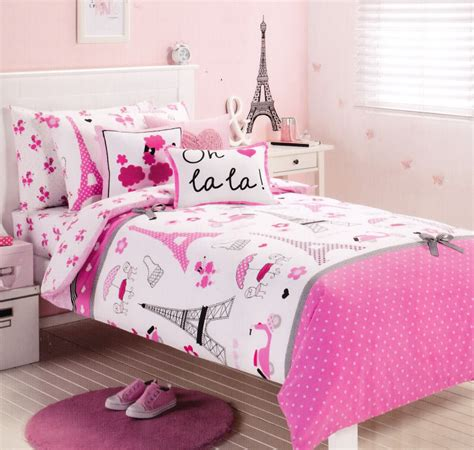 eiffel tower bedroom set pink paris eiffel tower single twin size quilt cover set