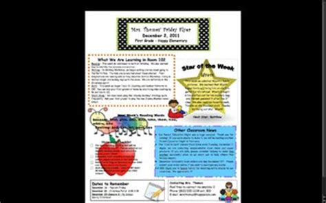 elementary classroom newsletter template  stephanie