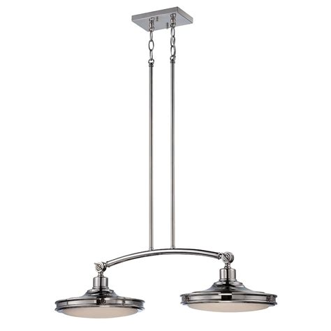 Two Pendant Light Fixture Houston 2 Lights Led Island Pendant Light Fixture Polished Nickel Fi Bulbamerica