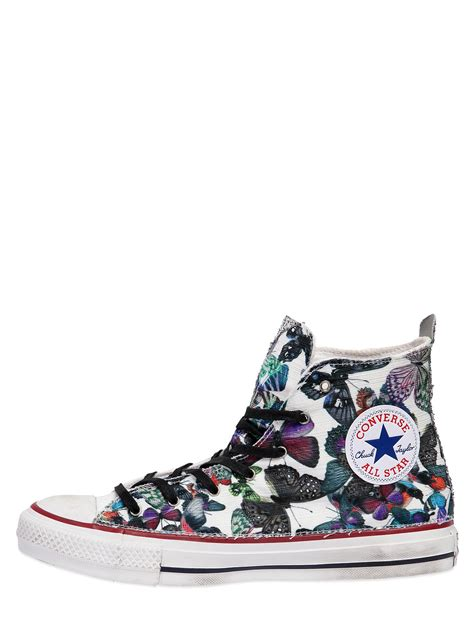 multicolor sneakers converse chuck butterfly canvas sneakers in
