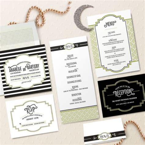 Wedding Invitations Gatsby by Design Your Wedding Invitations Deco Gatsby