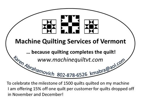 Quilting Services by 1500 And Growing Machine Quilting Services Of Vermont