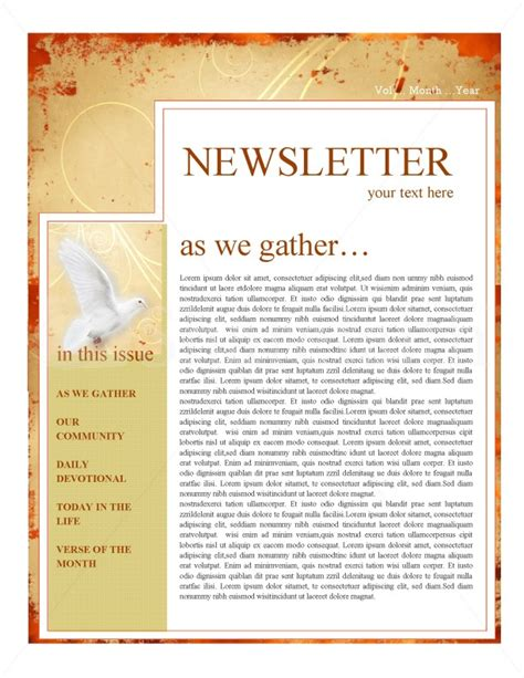 pentecost church newsletter template newsletter templates