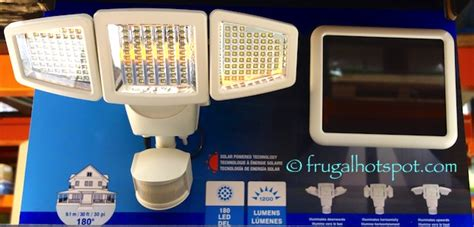 costco sale sunforce solar motion activated security