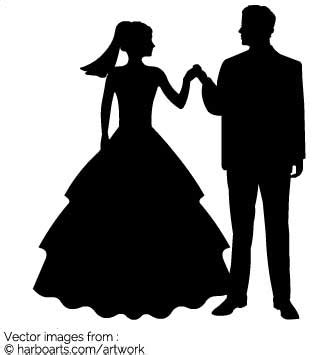 Wedding Siluet by Wedding Silhouette Vector Graphic