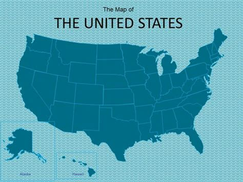 powerpoint map of usa map of usa powerpoint template