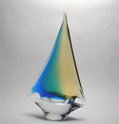 sailboat gifts oball aqua amber sailboat medium murano glass murano