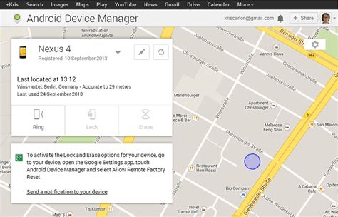 android device manage remote lock added to android device manager androidpit